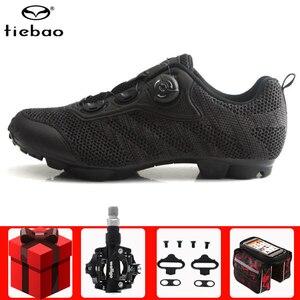 Tiebao Cycling Shoes Men sneakers Sapatilha Ciclismo Mtb Lightweight Self-locking bicicleta chaussure vtt Mountain Bike Shoes(China)