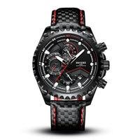 BOYZHE wielofunkcyjny automatyczny zegarek mechaniczny męski zegarek męski 30M wodoodporny skórzany pasek zegar Luminous miesiąc kalendarz tydzień w Zegarki mechaniczne od Zegarki na
