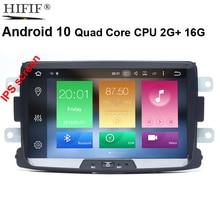 8Inch Android 10 Quadcore Auto Radio Gps 1Din Voor Renault Logan Ii Duster Dacia Dokker Dacia Camera Gift 8L