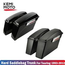 Мотоциклетные жесткие седельные сумки для багажника для Harley Touring Road King Street Electra Glide Box багажный инструмент седельная сумка чехол 1993-2013