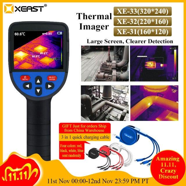XEAST 2020 جديد صدر شاشة ملونة يده التصوير الحراري كاميرا تصوير حراري بالأشعة تحت الحمراء