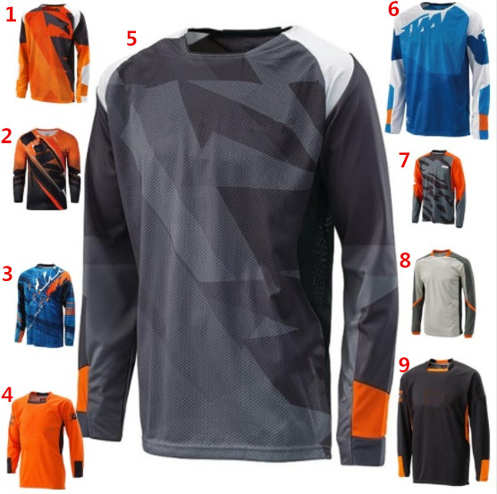 9 Colors ATV BMX Dirt Bike Off Road Motorcycle Jersey Racing Long Sleeve T-Shirts Motocross Jersey