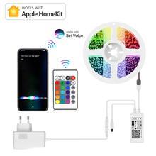 For Apple Alexa Google Home Homekit Smart Life LED Strip light Remote Siri Voice Dimmable Control Wifi RGB Smartlife Smart Lamp