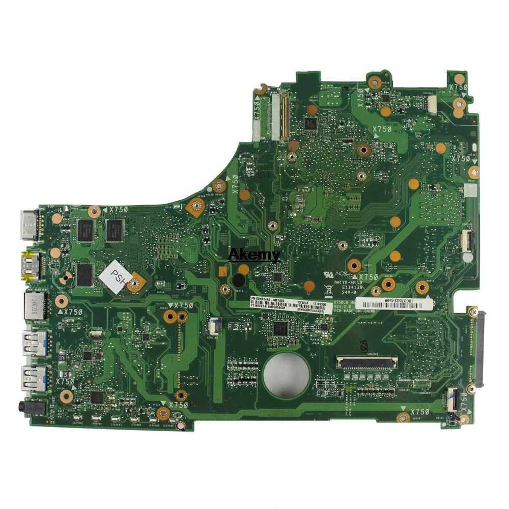 Untuk Asus X750JN X750JB X750J A750J K750J Motherboard Laptop Papan Utama I3-4010U CPU GT740M/2 GB Gratis Heatsink