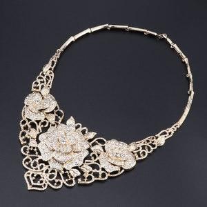 Image 3 - Fashion African Jewelry Set  Dubai Gold Jewelry Set Women Customer Nigerian Wedding Brand Jewelry Set Flower Design Gift