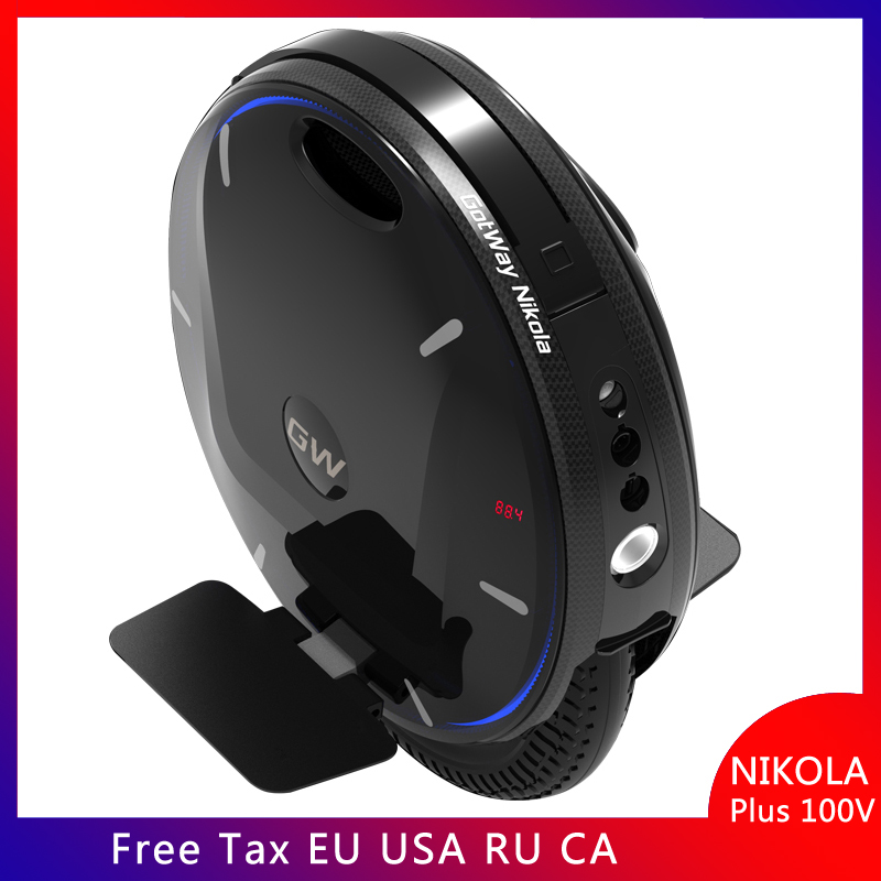 Newest Gotway Nikola 100V unicycle 17 inch electric unicycle 2000W 1600wh big battery Bluetooth smart APP