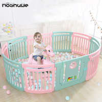 Children's Playpens Kids Indoor Game Playground Ball Pool Play Fence Baby Safety Toddler Crawl Toys Activity Round Fencing Yard