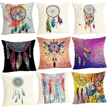 Lychee Feather Printed Cushion Case 45x45cm Colorful Polyester Peachskin Cover For Bedroom Home Office