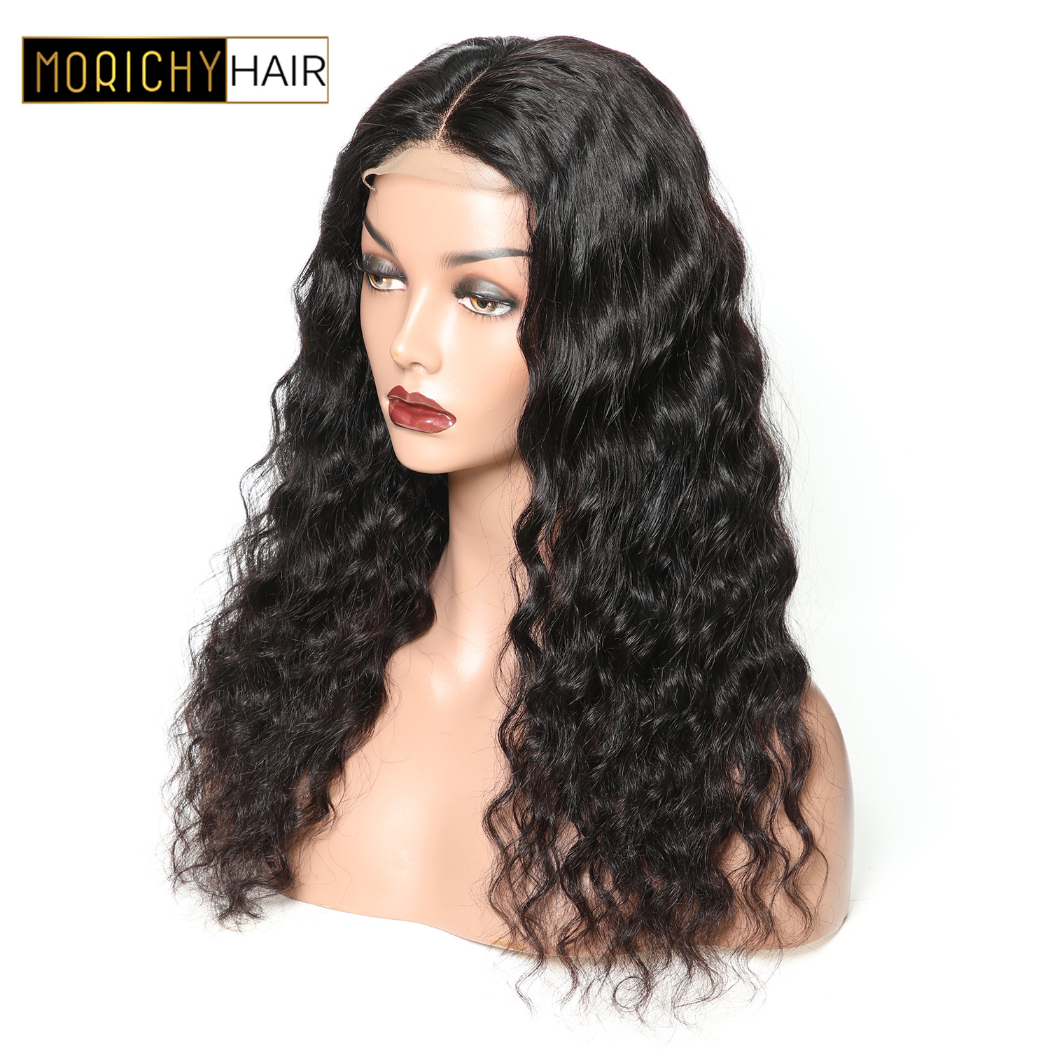 Loose Wave Wig Lace Closure Human Hair Wigs 150 Density Brazilian Closure Wig Non Remy  Hair Pre Plucked 4x4 Lace Wig