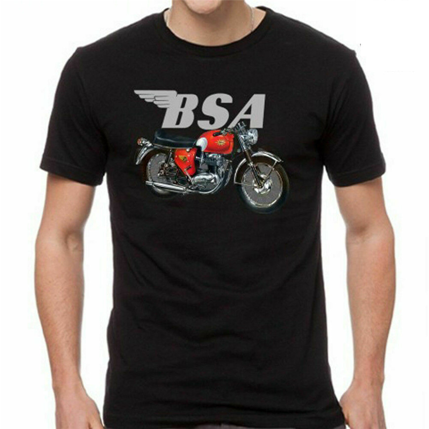 <font><b>Bsa</b></font> motorcycle Logo Mens Black Tshirt Size S M L Xl 2Xl 3Xl Brand Clothing Tee <font><b>Shirt</b></font> image