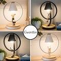 Nordic светодиодный настольная лампа для спальня мальчика девочки прикроватная лампа постоянного настольная лампа домашний декор современно...