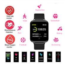 лучшая цена B57 montre intelligente hommes femmes traqueur de fréquence cardiaque pression artérielle héros bande 3 Bracelet intelligent spo