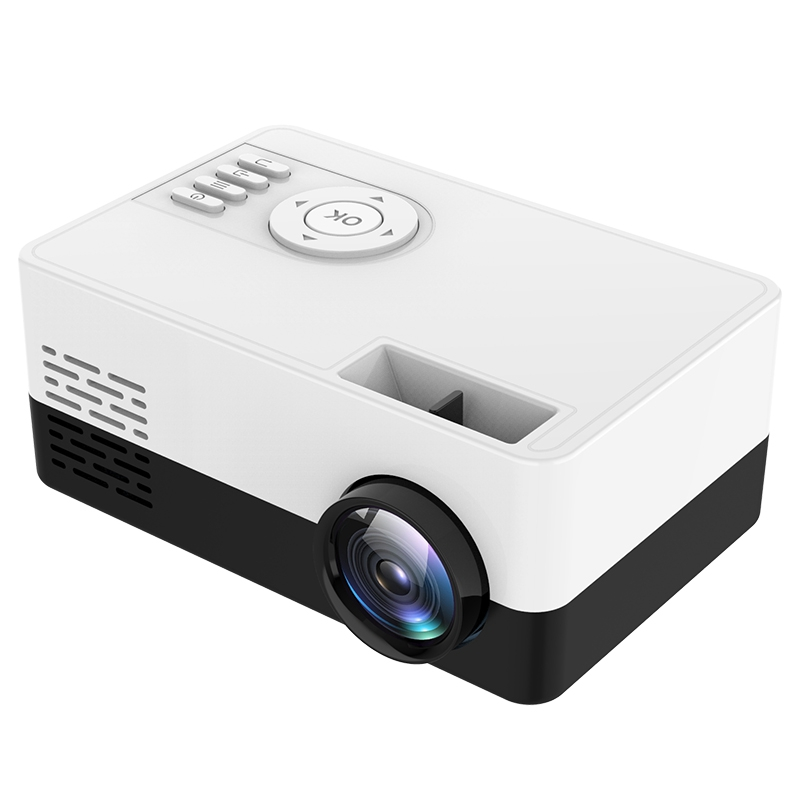 Portable Projector J15 1080P HD Projector Home Mini Theater Cinema Multimedia with Accessories Cable Remote Control Office Proje