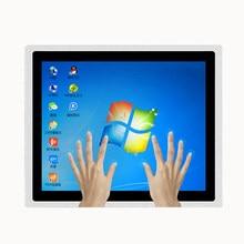 10.4 inç dokunmatik sanayi paneli pc bilgisayar çekirdek i5/i7 4G ram 32G SSD ile wifi gömülü capacitiv escreen metal kabuk mini PC