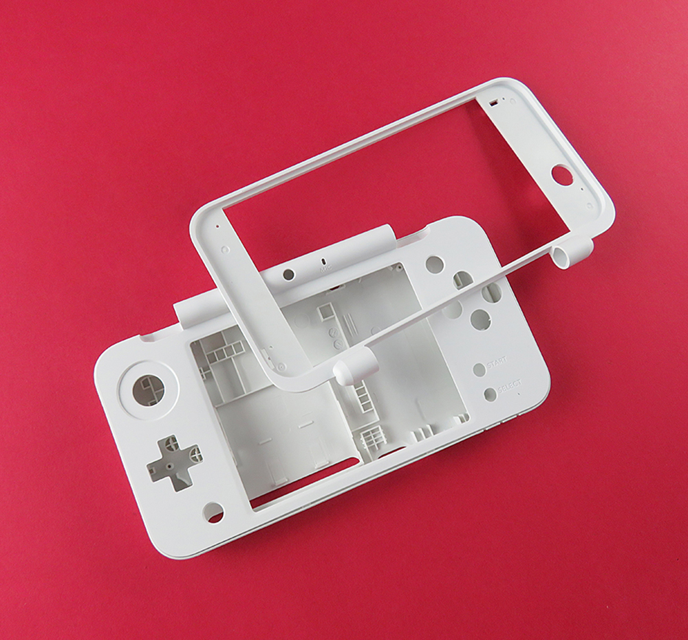 White Plastic Housing Shell Case Replacement Part Plate Set For New 2DS XL LL For New2DSLL