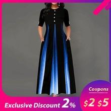 Элегантное вечернее платье макси, женское платье с рукавом средней длины, с цветочным рисунком, до щиколотки, женское черное летнее платье, ТРАПЕЦИЕВИДНОЕ длинное платье, женское платье