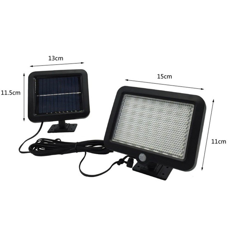 cheapest 42 LED Black White Waterproof Solar Powered Motion Sensor Wall Outdoor Light Garden Security Lamp 3 Different Lighting Modes