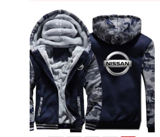 남성 겨울 플러스 사이즈 남성 닛산 스웨터 긴 소매 지퍼 탑스 thicken men's jacket 캐주얼 아우터웨어 포켓 자켓