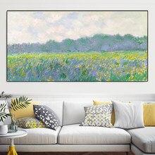 Peinture à l'huile sur toile de paysage d'étang de lys d'eau, Impression moderne, peintures murales, images pour salon Cuadros