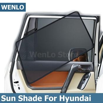 Magnetic Car Side Window SunShades Cover For Hyundai IX25 IX35 IX45 I30 I40 Elantra Verna Tucson Sonata Santafe Auto Curtain brand new auto ac compressor magnetc clutch coil for hyundai sonata elantra tucson