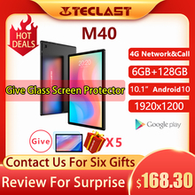 Teclast M40 Android 10 Tablet 1920×1200 10.1 inch 4G Network 6GB RAM 128GB ROM UNISOC T618 Octa Core Tablets PC Dual Wifi Type-C