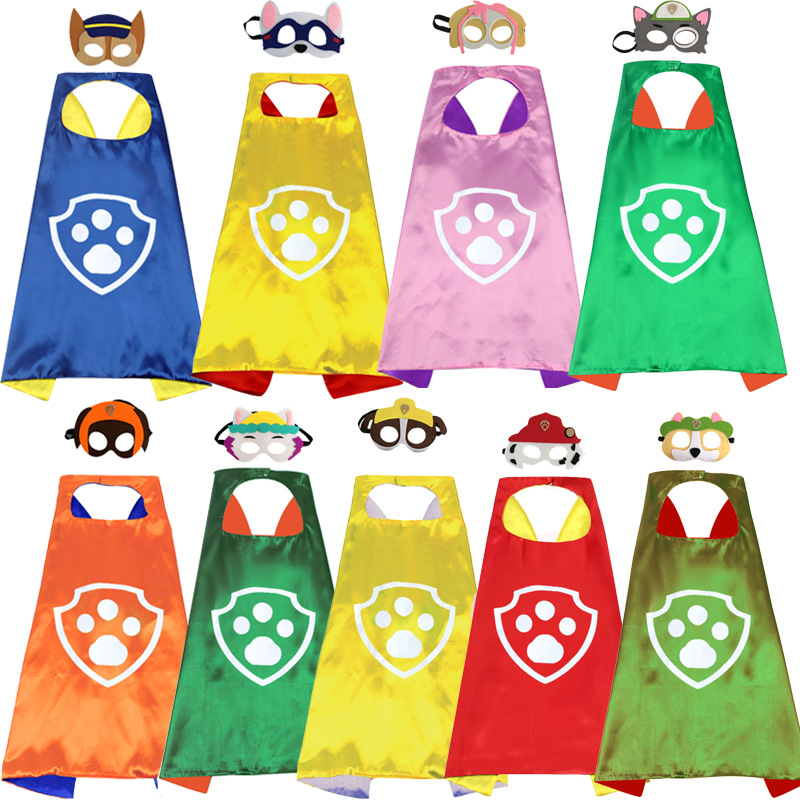 Paw Patrol Toys Set Mask Cape Cloak Cosplay Cartoon Paw Patrol Birthday Gifts Christmas Halloween Party Decoration Kids Toy