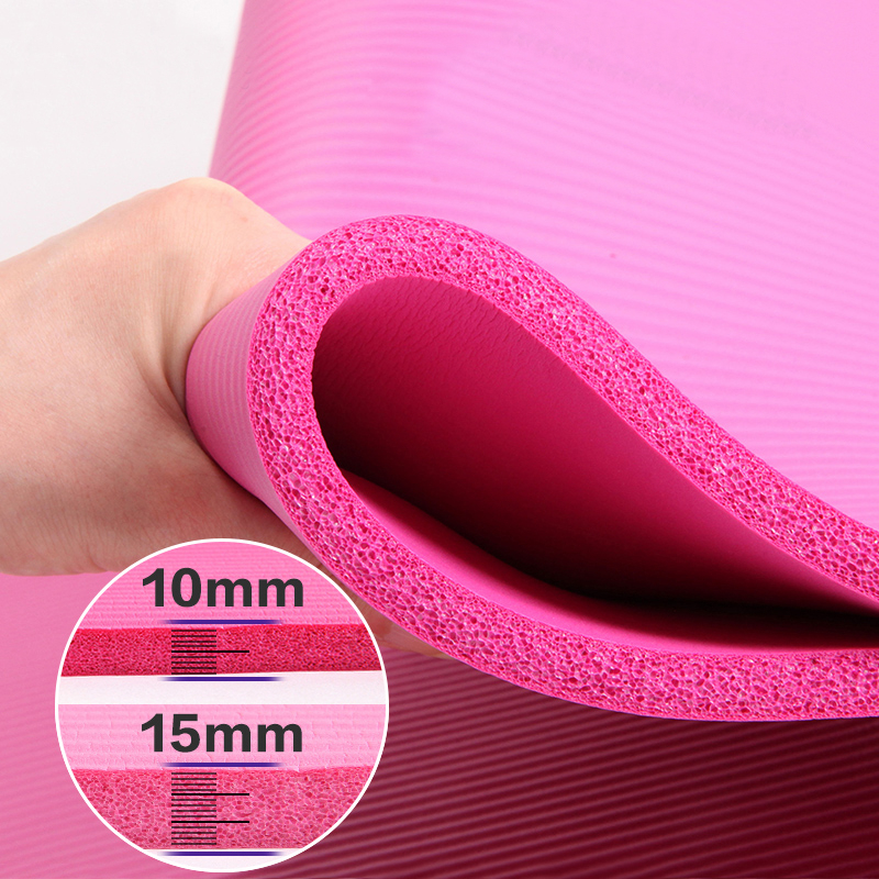10MM Thickened Non-slip NBR Yoga Mat For Beginners Gym Fitness Exercise Pad Bodybuilding Dance Mat Home Use Baby Crawl With Bag | Happy Baby Mama