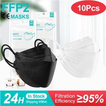 5-100 peças máscara facial fpp2 aprovado europa ffp2 máscara ffp2mask ce kn95 máscaras ffp2reutilizável máscara preta ffp3 mascarillas rímel