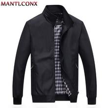 MANTLCONX 7XL 8XL New 2020 Casual Jacket Men Autumn Outerwear Mandarin Collar Quality