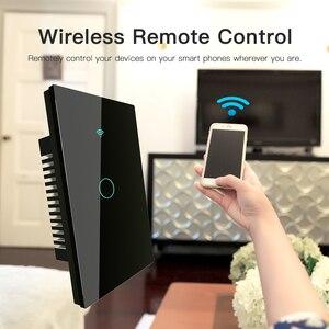 Image 4 - Interruptor táctil de pared inteligente RF433 WiFi, sin cable neutro, funciona con Alexa, Google Home, 170 250V