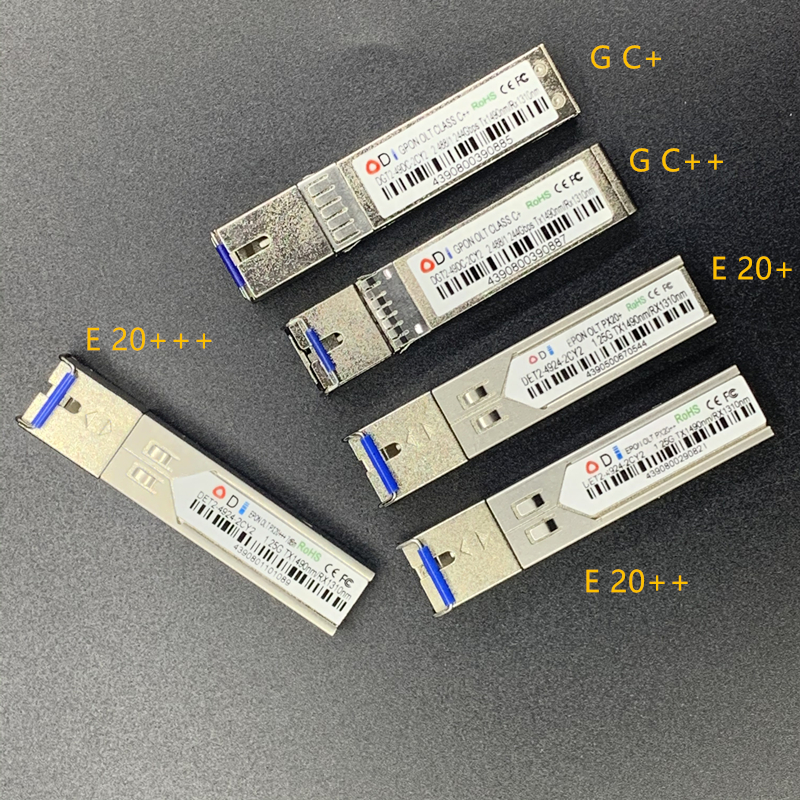 G/EPON SFP EPON1.25G PX20+ PX20++ PX20+++ GPON2.5G OLT PXC+ PXC++ Optical Module 20KM TX1490nm/RX1310nm Epon/gpon Olt Ont SC