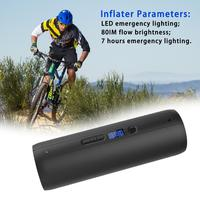 Mini Portable Bicycle Pump Automatic Tire Inflator Electric Pump For Mountain Road Bike Car Ball Inflating Cycling Accessory