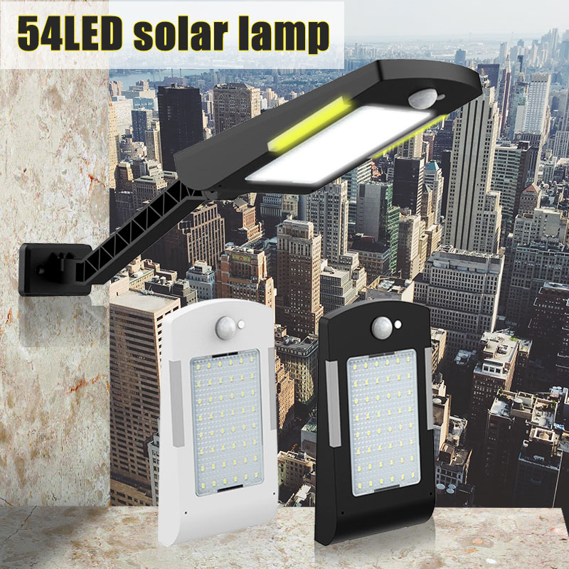 54 LED Wireless Solar Lamp With Three Modes Outdoor Waterproof Solar Light Security Lighting For House Wall Street Yard Garden