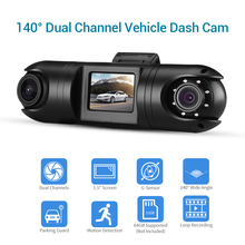 New Car Dash Cam HD WiFi Camera Dual Channel DVR 1.5 LCD TFT 140° Mini DVRs Motion Detection