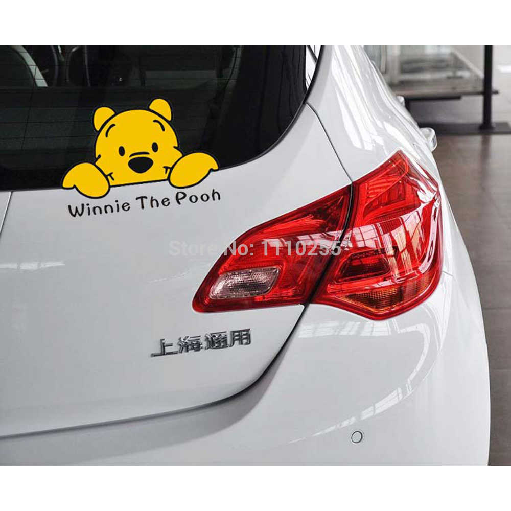 Aliauto autocollant de voiture drôle ours en vinyle accessoires de décalcomanie mignon pour Ford Volkswagen Skoda Polo Golf Honda Hyundai Kia Toyota