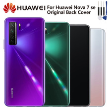 Original Huawei Battery Glass Back Cover for HuaWei Nova 7 SE Nova7 SE Door Rear Housing Back Cover Protective Phone Cover Cases thl w200c phone back cover 100