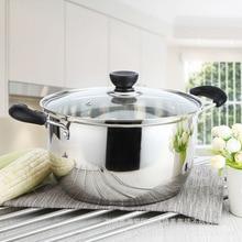 Olla de acero inoxidable de 1,5l 4L de doble fondo para sopa, utensilios de cocina multiusos, antiadherentes, uso general, 1 Uds.