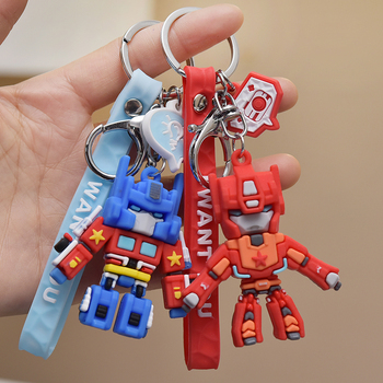 Anime Cartoon Robot Transformers Car Keychain Kid's Gift Superman Pendant Warrior Fighting Monster Keychain bt21 image