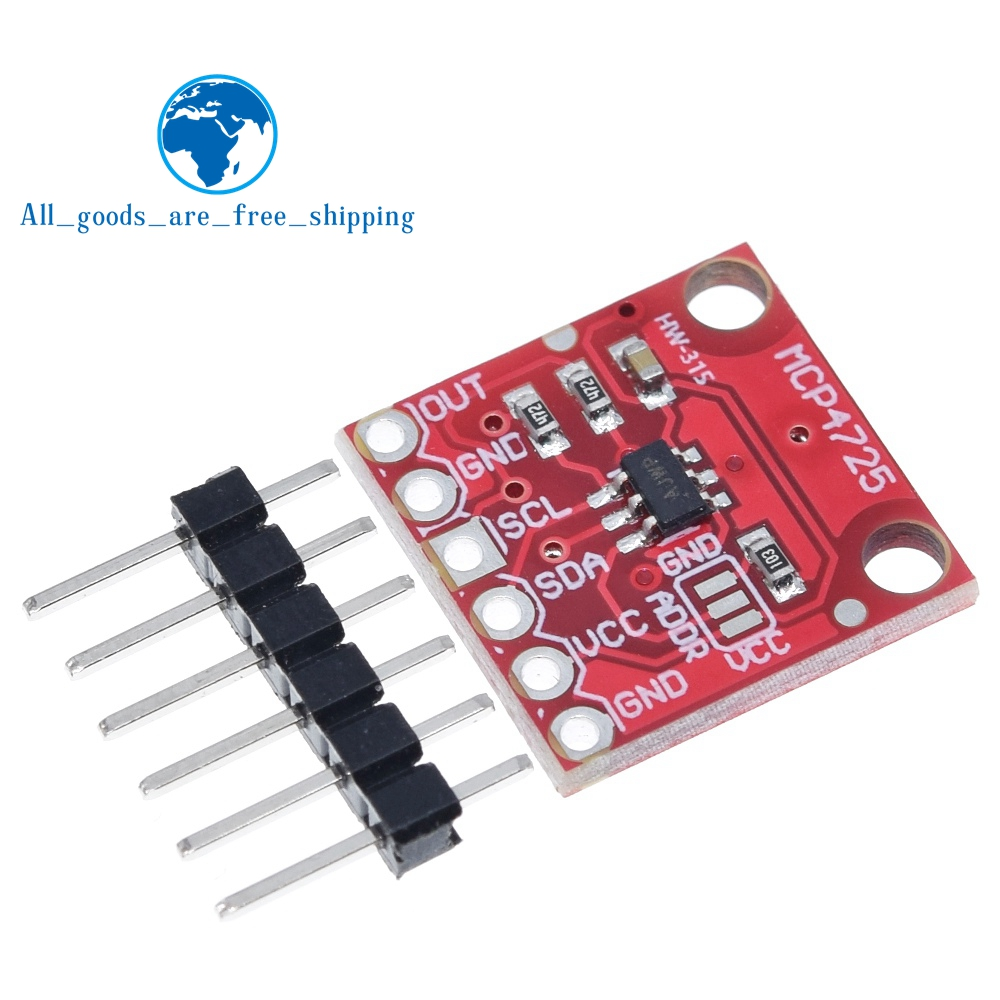 TZT MCP4725 12Bit I2C DAC Digital Converter Module Digital To Analong EEPROM Development Board For Arduino 2.7V 5.5V|development board|dac boardboard development - AliExpress