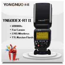 YONGNUO YN600EX RT II 2.4G اللاسلكية HSS 1/8000s ماستر TTL فلاش Speedlite لكانون 60D 650D كاميرا كما 600EX RT YN 600EX RT II