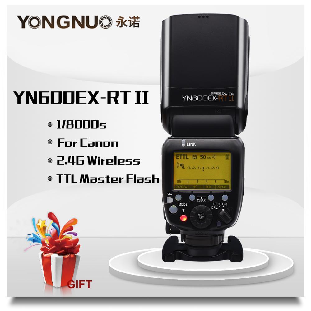 YONGNUO YN600EX-RT II 2.4G sans fil HSS 1/8000s Master TTL Flash Speedlite pour Canon 60D 650D caméra comme 600EX-RT YN-600EX RT II