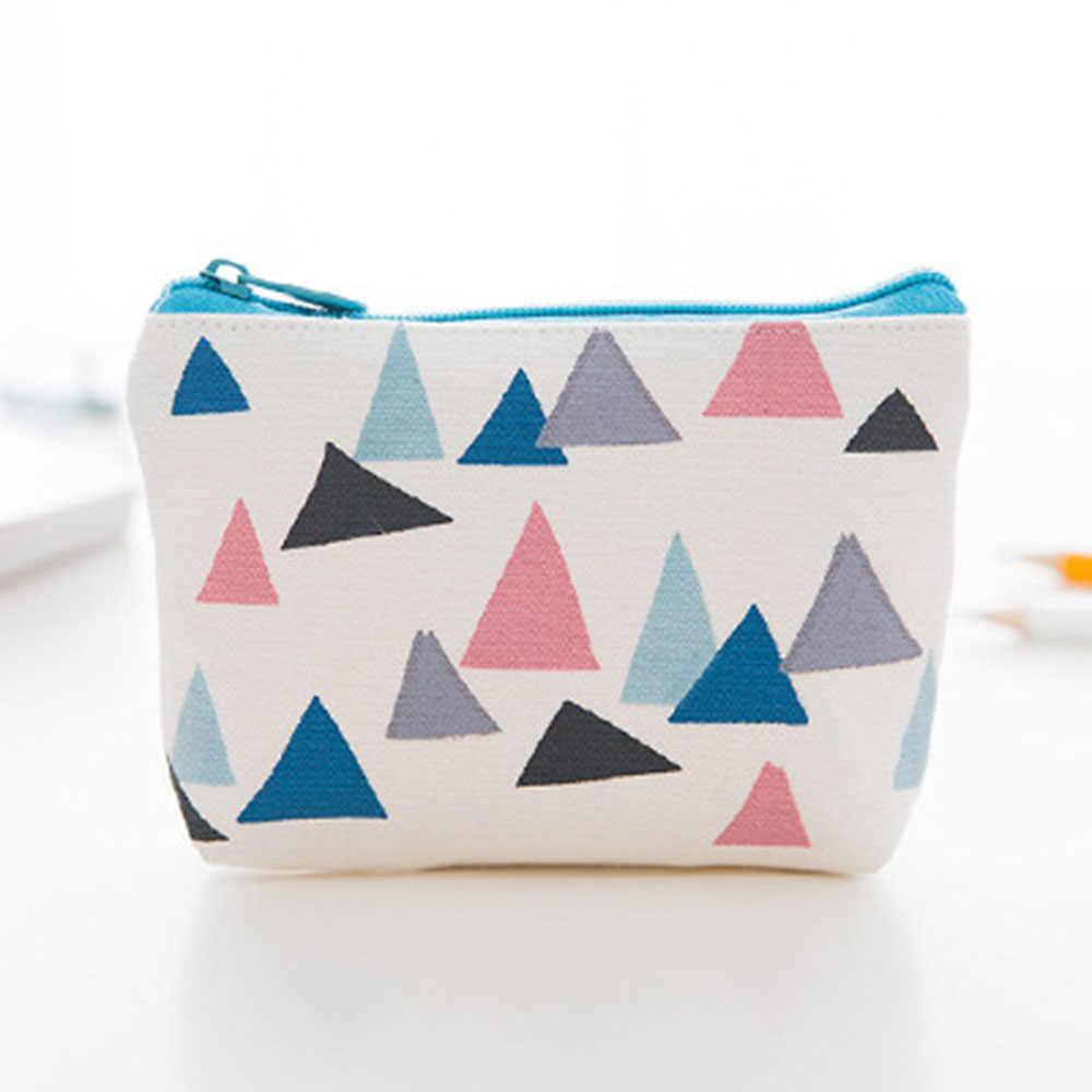 1pc mulheres meninas lona moda moeda bolsa carteira pequena bonito titular do cartão de crédito chave sacos de dinheiro crianças zíper bolsa presente