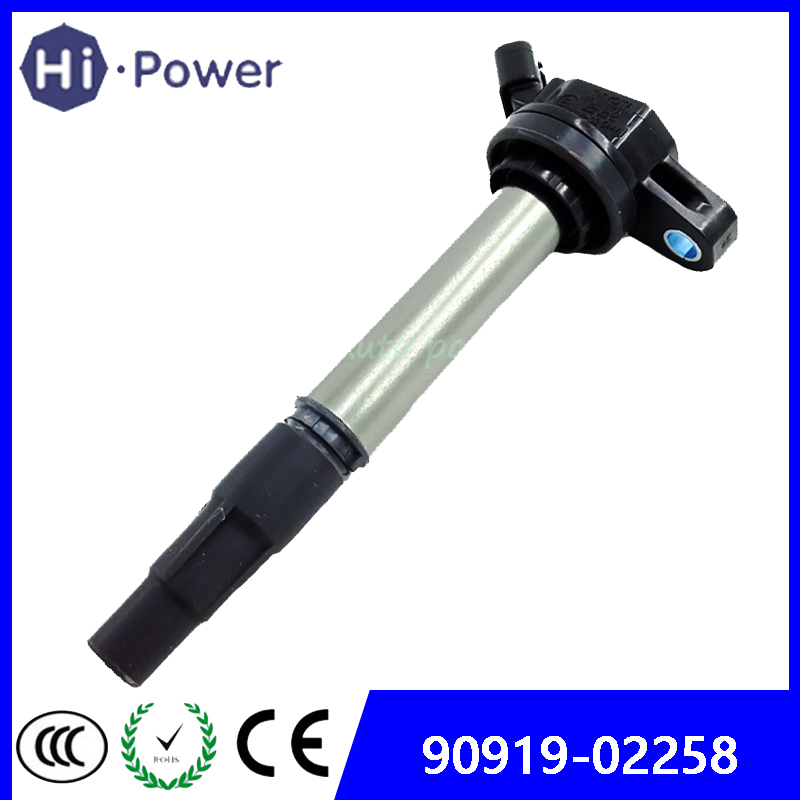 Ignition Coil New OEM 90919-02258 For Toyota Corolla Matrix Prius Scion xD 1.8 RAV4 90919 02258 <font><b>9091902258</b></font> UF-596 C1714 UF-619 image