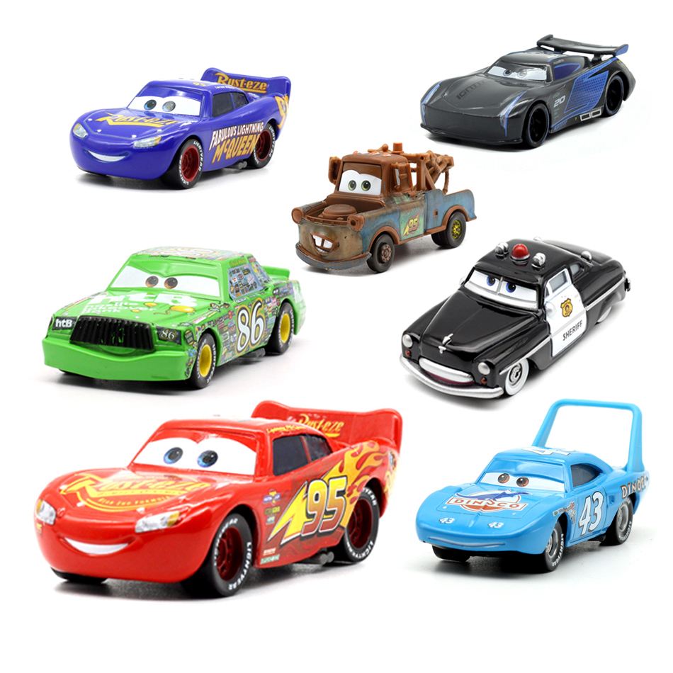 New Disney Pixar Car 3 Car 2 McQueen Family Car Toy 1:55 Metal Alloy Mold Toy Car Model 2 Boys Girls Children Toys Birthday Gift