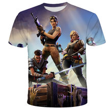 Fort-nite-Fashion 3D boys and girls T-shirt, baby cartoon 3d printed summer short-sleeved clothes, Size4T-14T