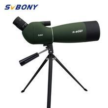 Svbony sv28 50/60/70mm spotting scope zoom à prova dwaterproof água telescópio poderoso longo alcance porro prisma para caça tiro com arco f9308z