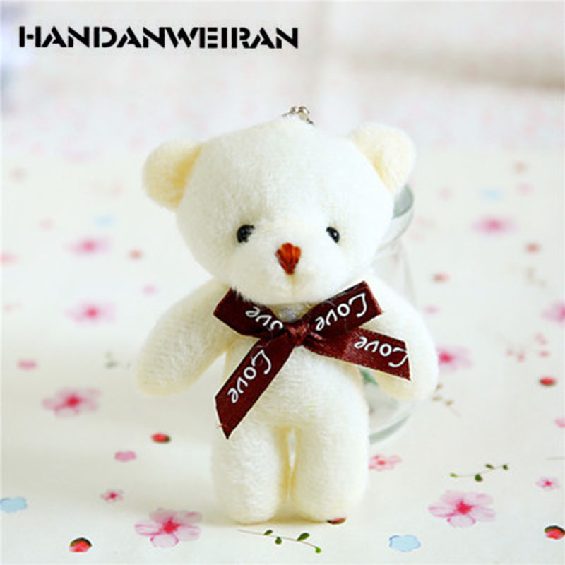 1 Place Bear Doll Plush Toy Bear Bag Pendant Doll Single Cartoon Bouquet Packaging Material For Girls&Boys image