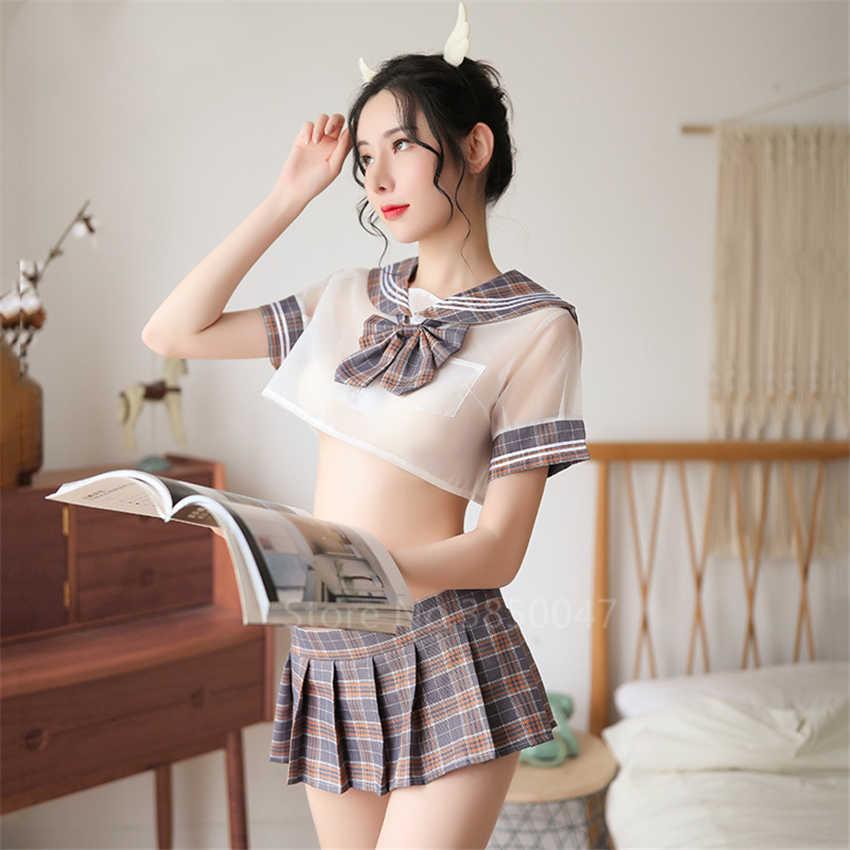 Vrouwen Sexy Schooluniform Japanse Stijl Student Jk Pak Top Geplooide Rokken Mini Girl Sailor Lingerie Cosplay Kostuum