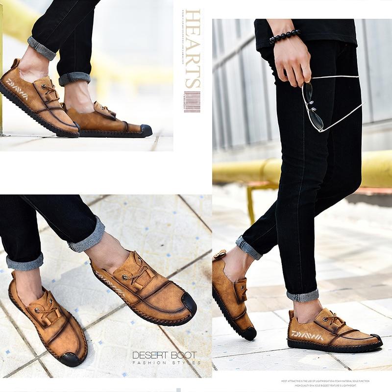 sapatos de couro resistente ao desgaste sapatos casuais