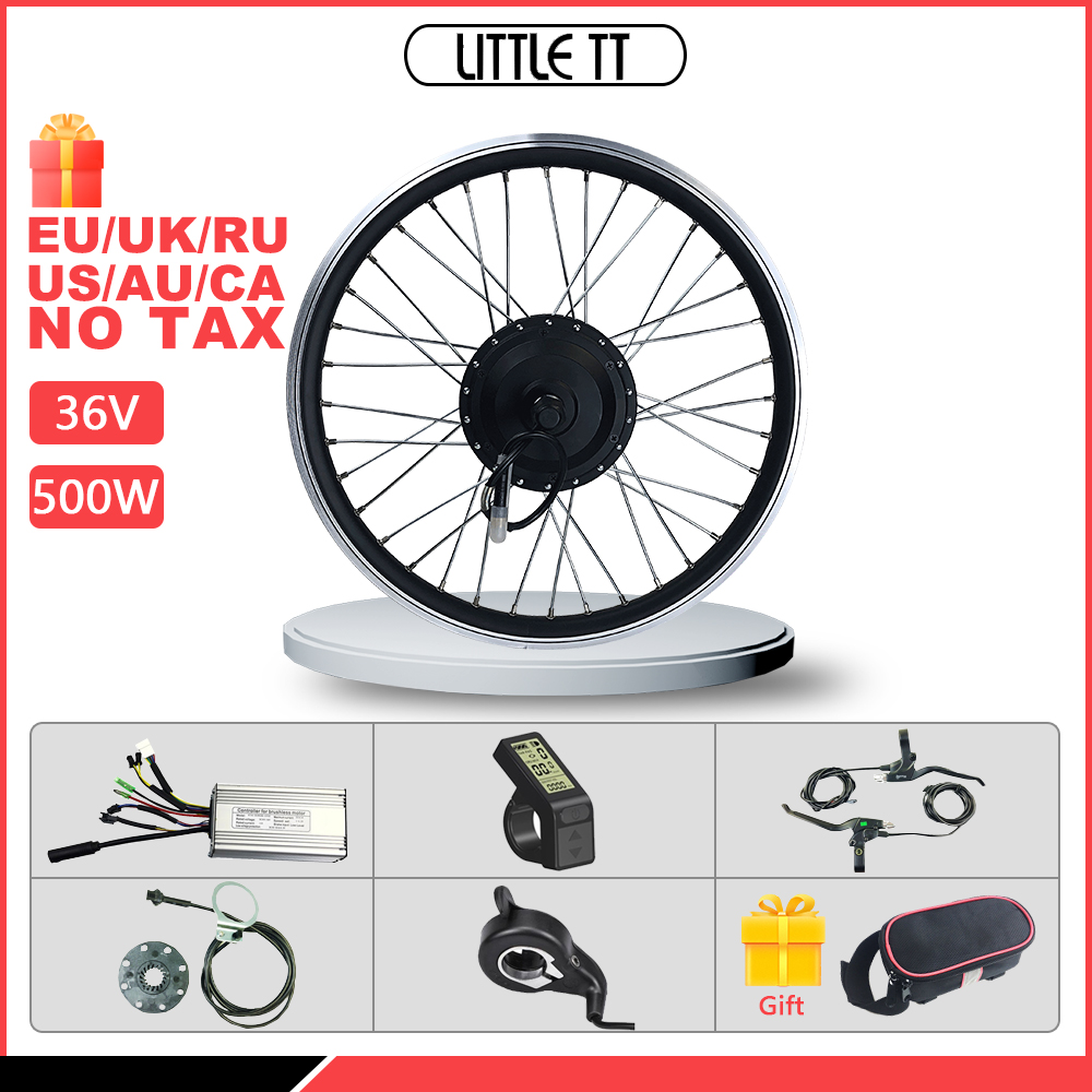 <font><b>E</b></font> <font><b>bike</b></font> <font><b>Conversion</b></font> <font><b>Kit</b></font> 16-28 zoll 700C Elektrische Fahrrad <font><b>Conversion</b></font> <font><b>Kit</b></font> 36V 500W Vorne Hub motor rad image